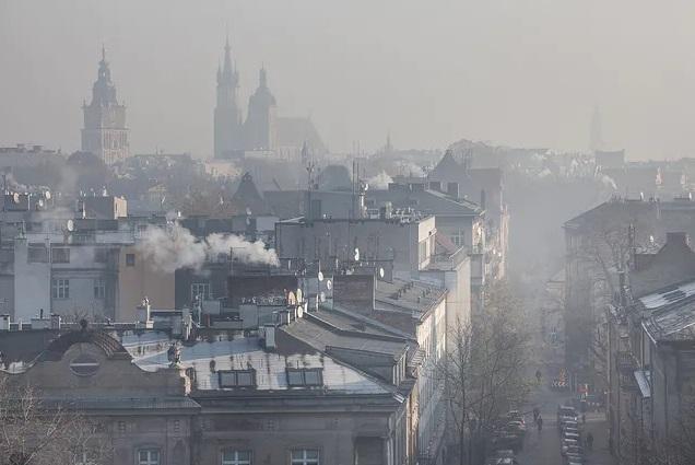 powstawanie smogu z węgla